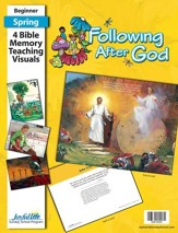 Following after God Beginner (ages 4 & 5) Bible Memory Verse Visuals (Spring Quarter)