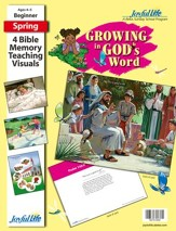 Growing in God's Word Beginner (ages 4 & 5) Bible Memory Verse Visuals