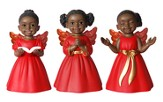 Angel Cherub Figurines, Red, Set of 3