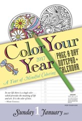Color Your Year Notepad + Calendar 2017