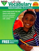Everyday Vocabulary Intervention  Activities Grade 1