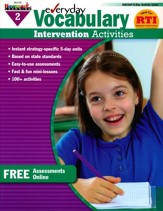 Everyday Vocabulary Intervention Activities Grade 2