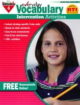 Everyday Vocabulary Intervention Activities Grade 4