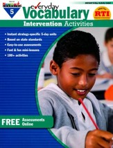Everyday Vocabulary Intervention Activities Grade 5