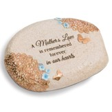 A Mother's Love Is Remembered Forever Memorial Stone