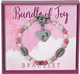 Bundle of Joy Charm Bracelet, Pink