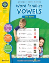 Word Families: Vowels Big Book Grades K-1