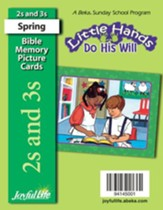 Little Hands Do His Will (ages 2 & 3) Mini Bible Memory Picture Cards (Spring Quarter)