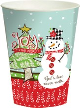 Joy to the World, Snowman Cup, Small