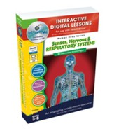 Senses, Nervous & Respiratory  Systems Interactive Digital Lessons on CD-ROM Grades 3-8