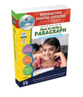 How to Write a Paragraph Interactive  Digital Lessons on CD-ROM Grades 3-8