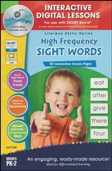 High Frequency Sight Words Interactive Digital Lessons on CD-ROM Grades PreK-2