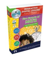 Five Strands of Math Big Box  Interactive Digital Lessons on CD-ROM Grades 3-5