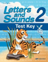 Abeka Letters and Sounds 2 Test Key