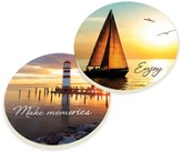 Make Memories, Lighthouse, Car Coasters, Set of 2