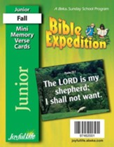 Bible Expedition Junior (Grades 5-6) Mini Memory Verse Cards