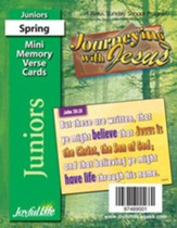 Journeying with Jesus Junior (Grades 5-6) Mini Memory Verse Cards