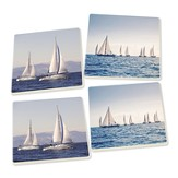 Sail Boats Coasters, Pack of 4