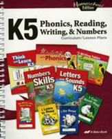 Abeka Homeschool K5 Phonics,  Reading, Writing, and Numbers Curriculum/Lesson Plans (Revised)