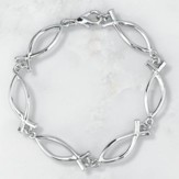 Linked Ichthus Bracelet