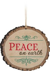 Peace On Earth, Bark Ornament