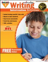 Everyday Writing Intervention Activities Grade 3