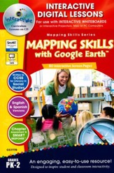 Mapping Skills with Google Earth  Interactive Digital Lessons on CD-ROM Grades PreK-2