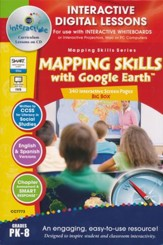 Mapping Skills with Google Earth Big  Box Interactive Digital Lessons on CD-ROM Grades PreK-8