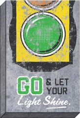 Go And Let Your Light Shine Canvas Art with Green Light