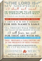 The Lord Is My Shepherd Typography Canvas Art