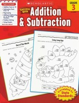 Scholastic Success with Addition & Subtraction, Grade 3