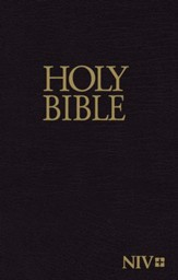 NIV Economy Bible--hardcover, black