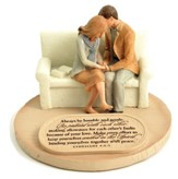 Devoted Praying Couple Figure