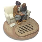 Two Women Praying Sculpture