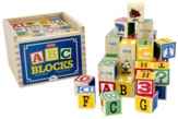 Alphabet Wood Blocks, Set of 48