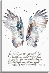 He Will Cover You With His Feathers, Psalm 91:4, Canvas Art