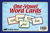 Abeka K4-K5 One-Vowel Word Cards (100 cards)