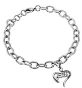 Faith Handwriting Heart Bracelet, Adjustable