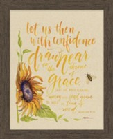 Let Us Then With Confidence Draw Near, Hebrews 4:16, Framed Art