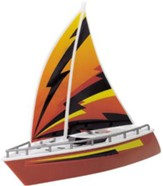 Wave Breakers Sail Boat, Orange