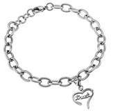 Trust Handwriting Heart Bracelet, Adjustable