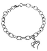 Jesus Handwriting Heart Bracelet, Adjustable