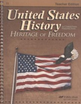 Abeka United States History in Christian Perspective:   Heritage of Freedom Teacher Edition