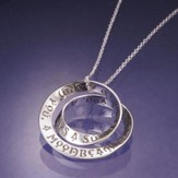 Irish Blessing, Sterling Silver Double Mobius Pendant