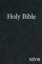 NIV Large-Print Holy Bible--softcover, black