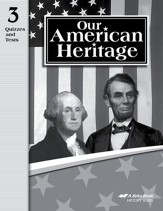 Abeka Our American Heritage Student  Quiz and Test Book