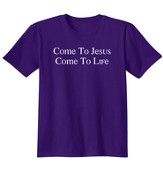 Come To Jesus, Shirt, Purple, Small