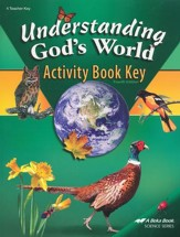 Abeka Understanding God's World Activity Book Key, Fourth  Edition