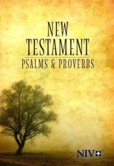 NIV New Testament with Psalms and Proverbs--softcover, tree - Slightly Imperfect