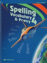 Spelling, Vocabulary & Poetry, Fifth Teacher's Edition--Grade 4